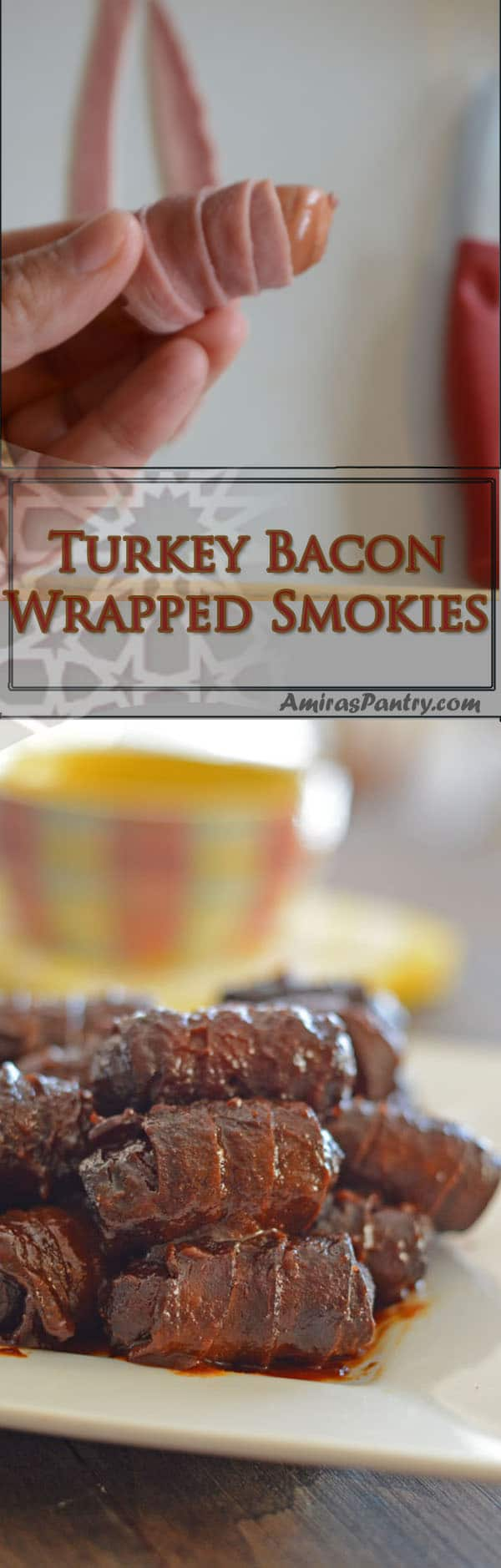 Embrace the sweeter side of the BBQ sauce and whip up a wonderful, easy appetizer for your next party. With the use of your crockpot, thisbecomes an almost effortless bacon wrapped smokies recipe.
