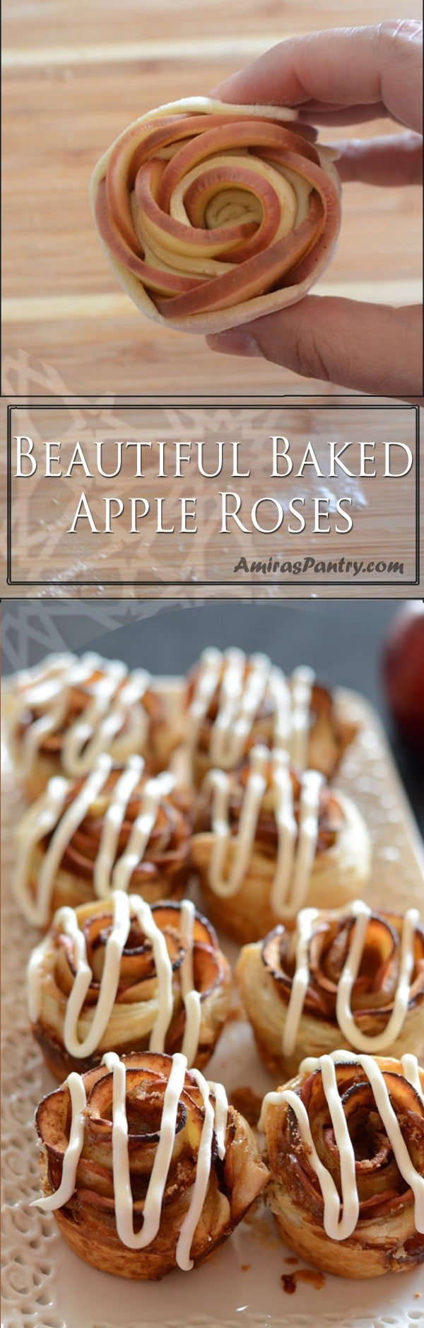 An infograph of Apple Roses recipe