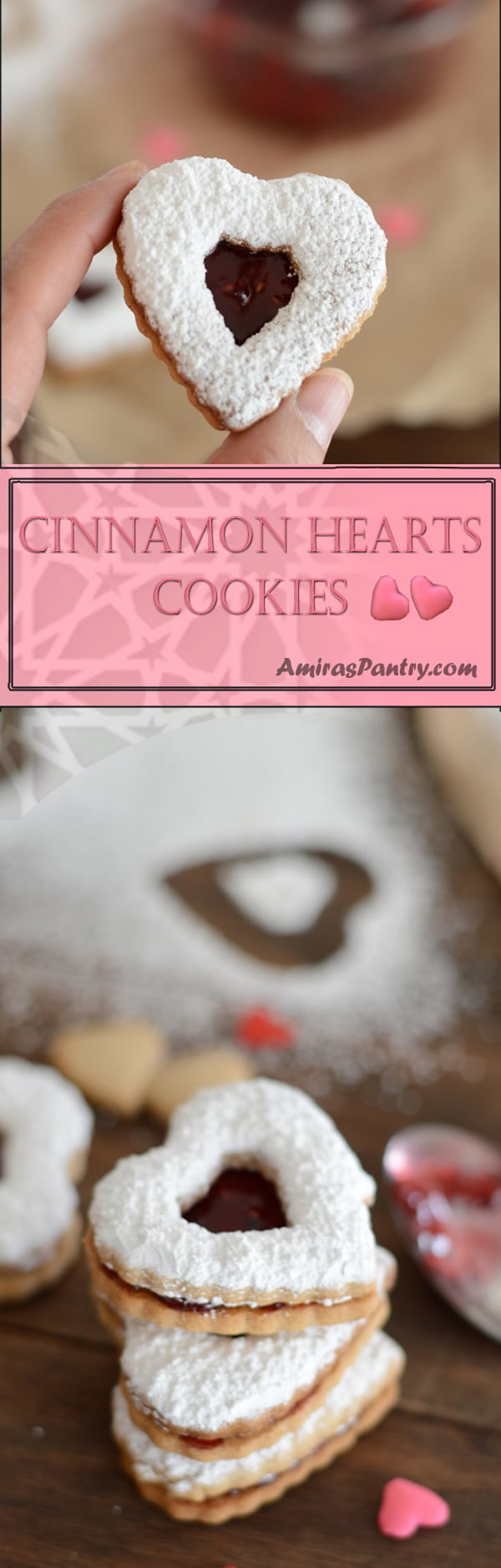 Heart shaped cookies are a Valentines must. This is a very easy cinnamon cookies which makes for a seriously easy Valentine's dessert.