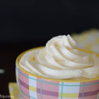 A close up of Buttercream in a cup