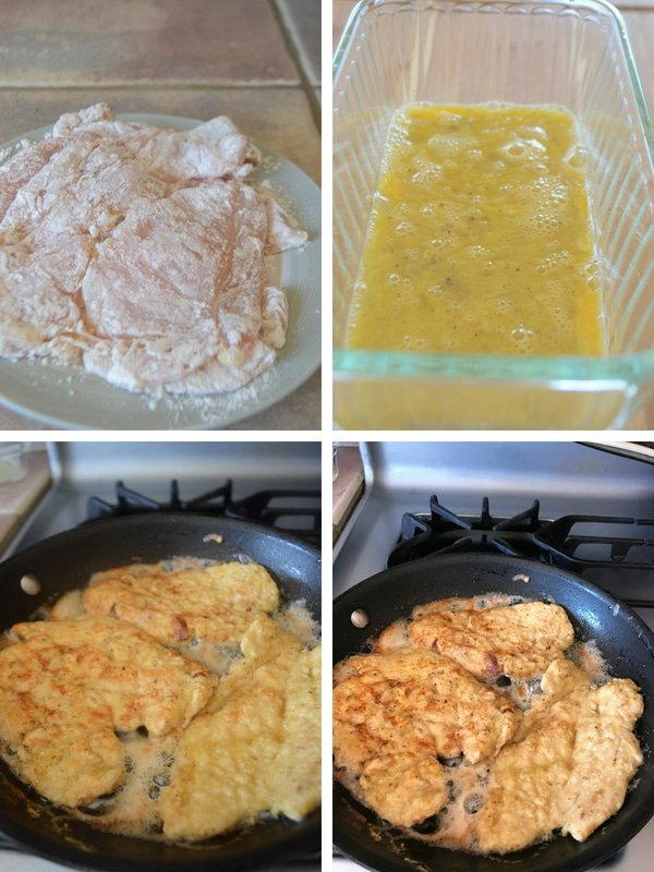 Steps for making chicken francese without wine recipes.