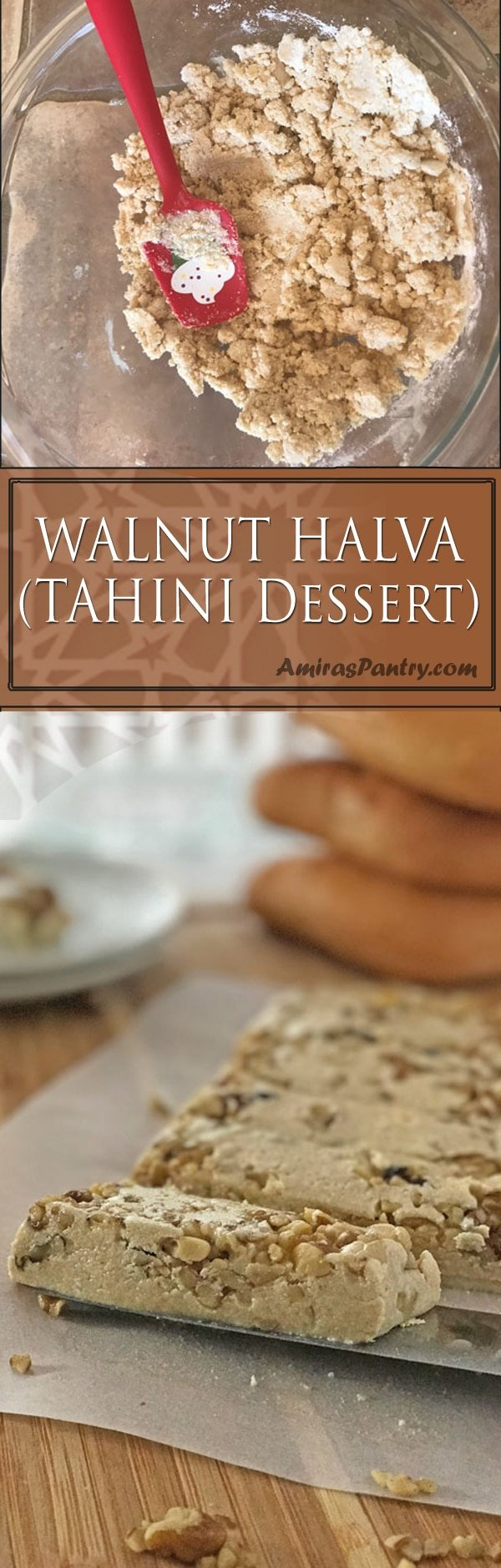 Halawa is a sweet tahini Middle Eastern dessert, that can be crumbled on breads or used as a fun topping for desserts. Hawala can be even enjoyed straight.
