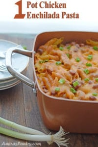 1 Pot Chicken Enchilada Pasta