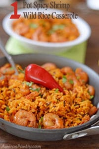 1 Pot meal; Spicy Shrimp and Wild Rice Casserole
