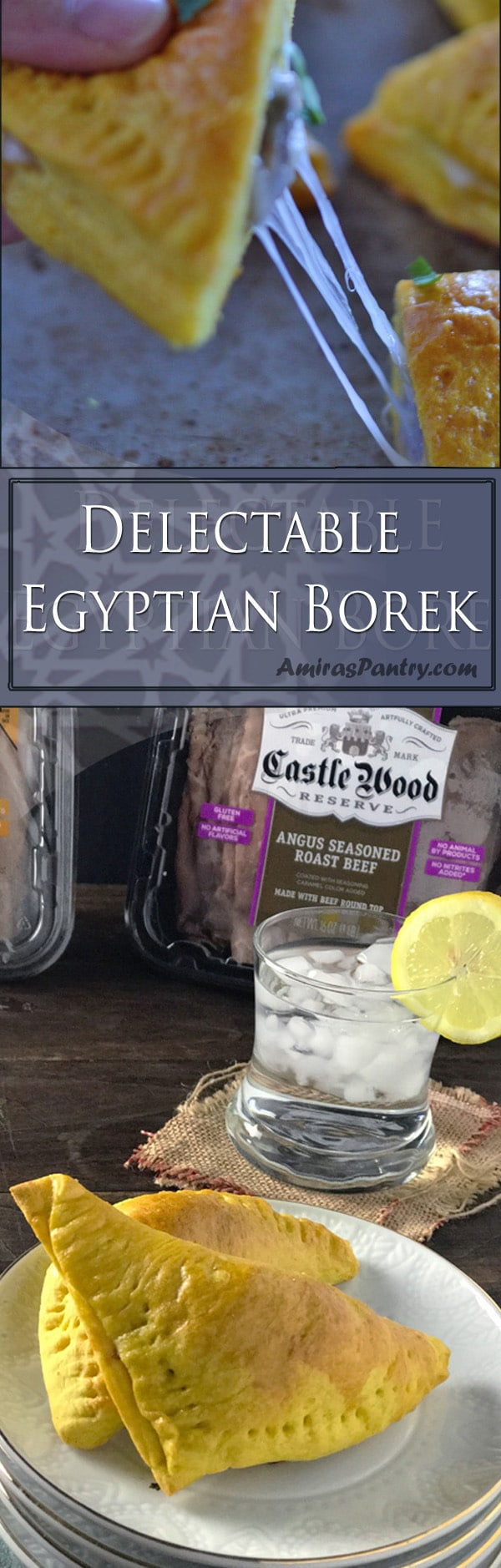 An infograph for Egyptian Borek recipe