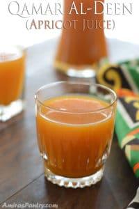Qamar Al-Deen (Apricot juice); famous middle eastern drink