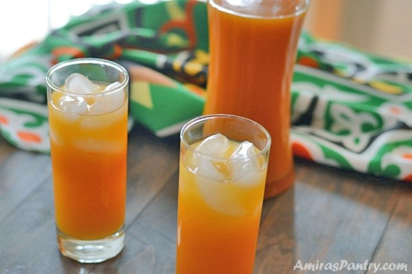 Qamar Al-deen is a Middle Eastern drink that is dried apricot based. It is thick, sweet and delicious.