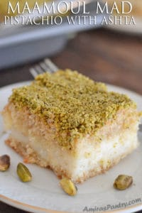 Maamoul Mad Pistachio with Ashta recipe