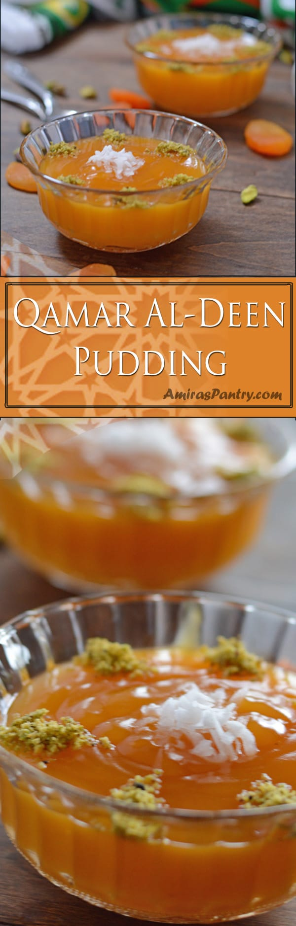Amar al deen pudding, also known as kamar al deen or qamar aldeen mohalabeya, is an irresistible apricot pudding, creamy, fragrant and sweetened to your perfection. One of the most famous Ramadan food recipes.