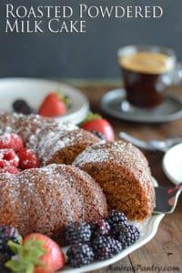 Mothers day cake recipe; Roasted Powdered Milk Cake!