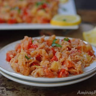 An infograph for Zucchini vegan dish recipe