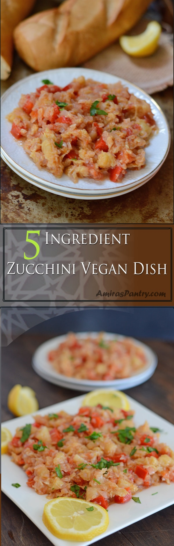 Have you ever wondered what to do with zucchini insides? you can make zucchini fritters, zucchini pancakes, zucchini muffins or how about this simple veggie side dish idea?