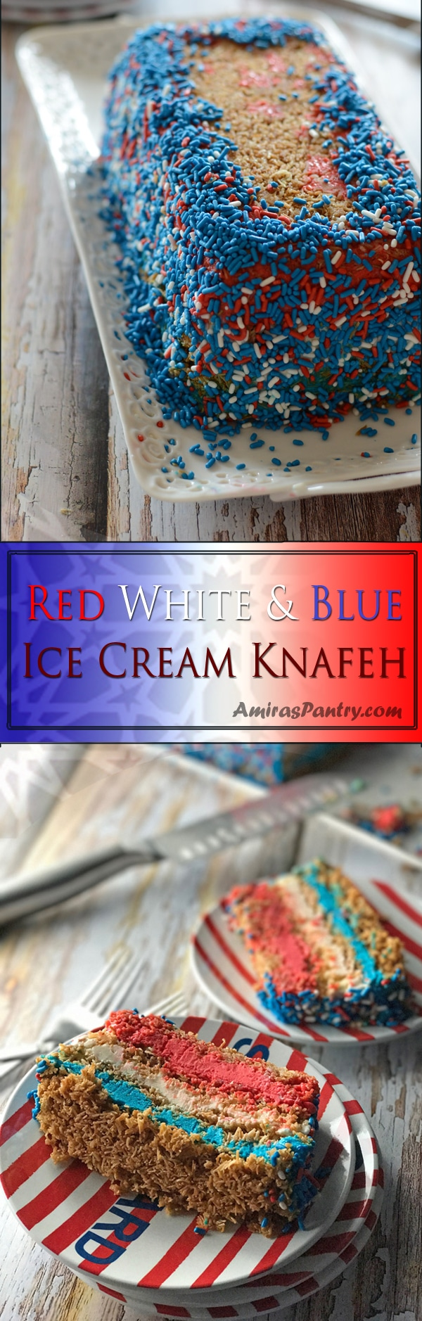 An infograph for red white blue cake