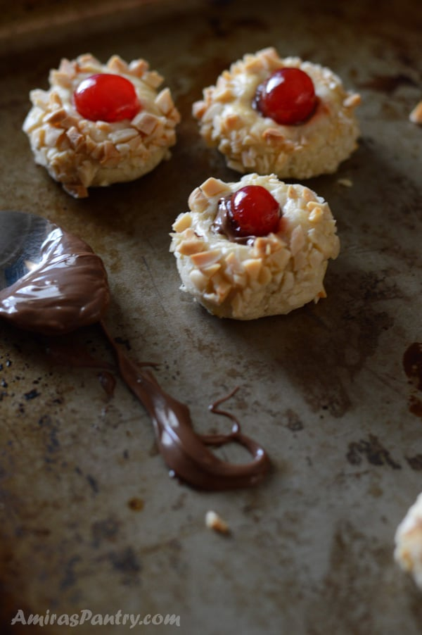 A close up of food, with ruby gem Cookies and chocolate