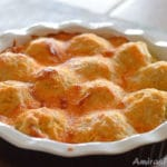 A close up of Casserole with Cheese and Chicken