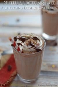 Nutella Protein Shake; A Charming Dose of Sweetness