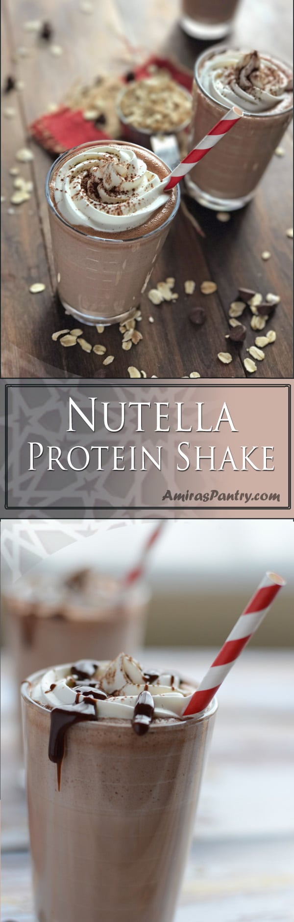 An infograph for Nutella protein shake recipe