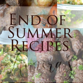 An infograph for end of summer recipes