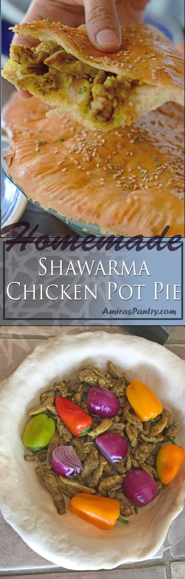 Get your shawarma fix with this festive looking delicious shawarma pie. Your eyes along with your tastebuds will definitely thank you for this.