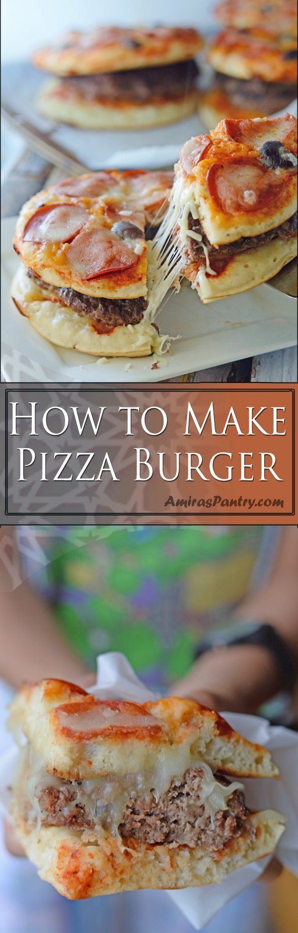 Homemade pizza burgers are burgers sandwiched between two pizzas, how terrifying crazy idea does this sound?! Whether you are a pizza fan or a burger fan, you'll definitely find something to eat.