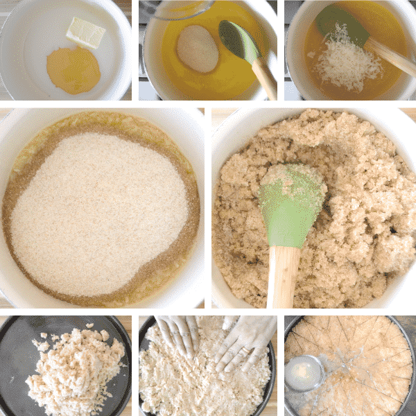 Steps showing how to make Egyptian Farina recipe