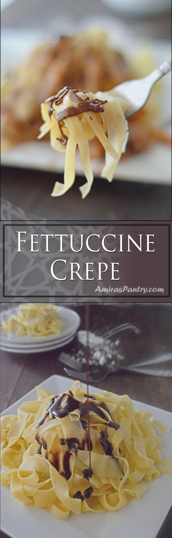 A decadent classic crepe, served with style. These crepes would make a wonderful holiday breakfast and you can top them with so many fun things.