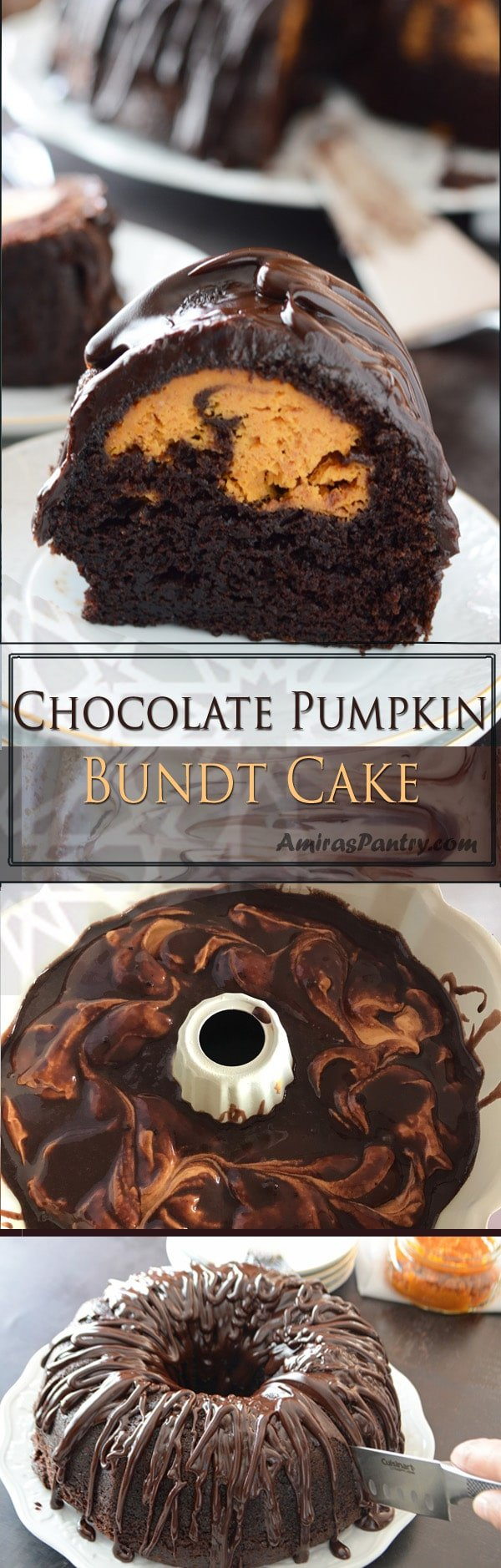 Pumpkin cream cheese bundt cake with the best chocolate glaze for bundt cake you'll ever have. One of the best pumpkin dessert recipes that will actually seduce pumpkin haters.