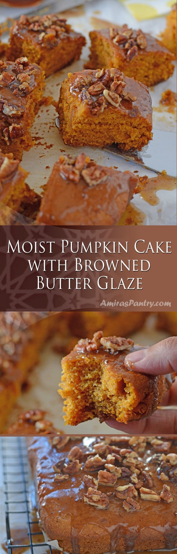 Super moist pumpkin cake the has BUTTER , real butter and the taste is oh so beyond this world.
