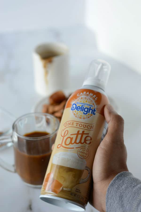 A photo showing caramel latte product