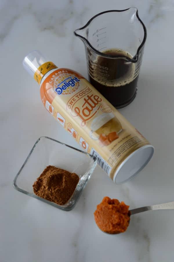 coffee latte bottle product photo