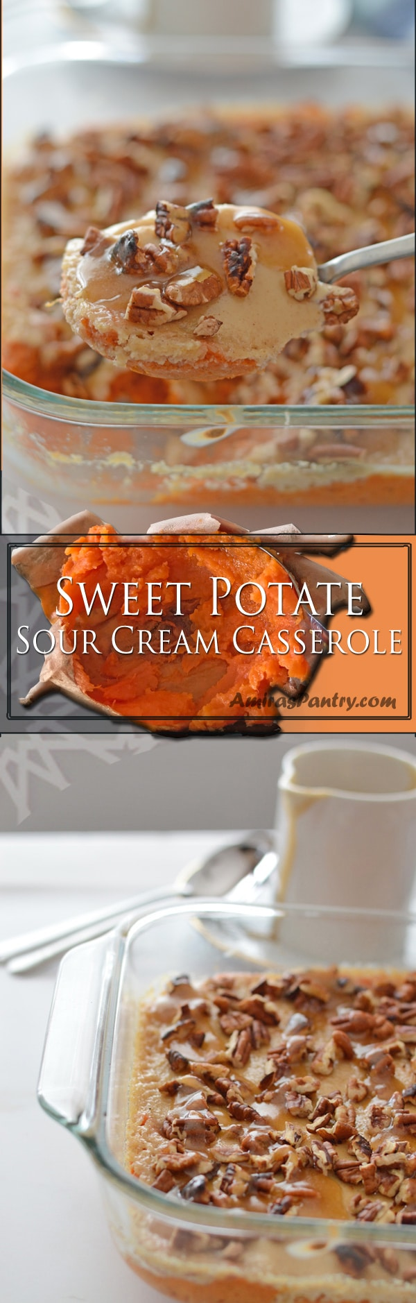 An easy baked sweet potato casserole, that is just sweet enough to show as a side on your thanksgiving table. Up the sugars, and you'll have a great dessert. A sweet potato recipe with pecans that I am sure you'll fall for.