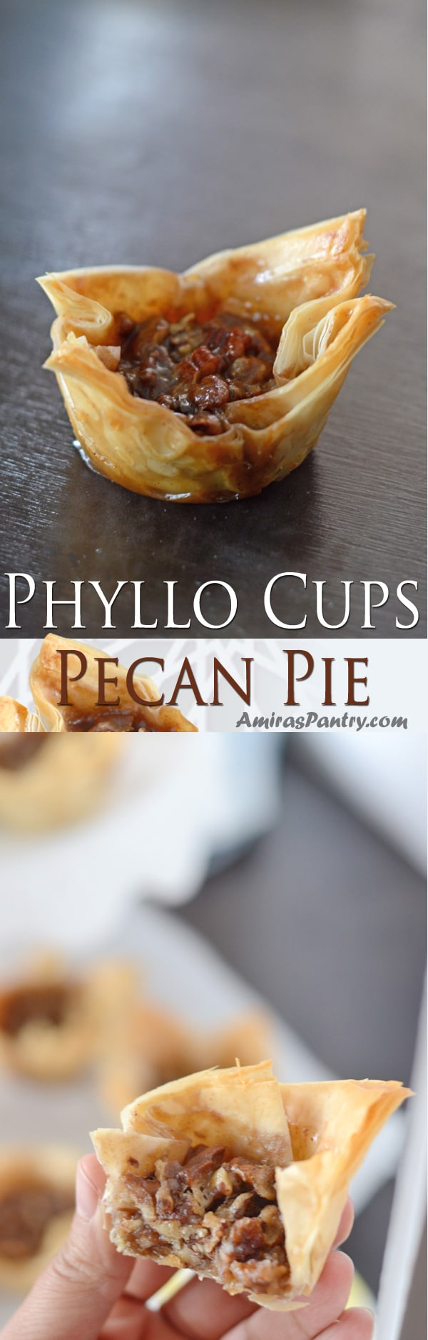 Check out this take on the traditional pecan pie. Go crazy with the crust with these pecan pie phyllo crust and learn how to make phyllo cups. I just have to warn you these are highly addicting pecan pie baklava cups.