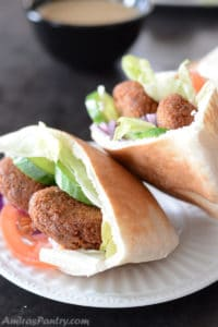 Traditional Falafel Recipe ; Feta Stuffed