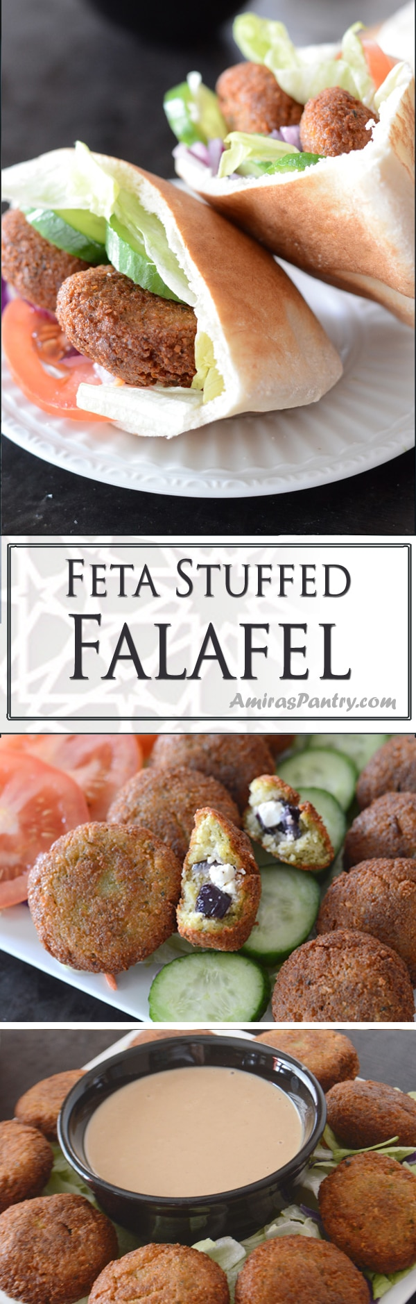 Enjoy crunchy homemade Middle Eastern falafel. Crispy, flavorful and with a twist. Take falafel to the next level with this delicious stuffing