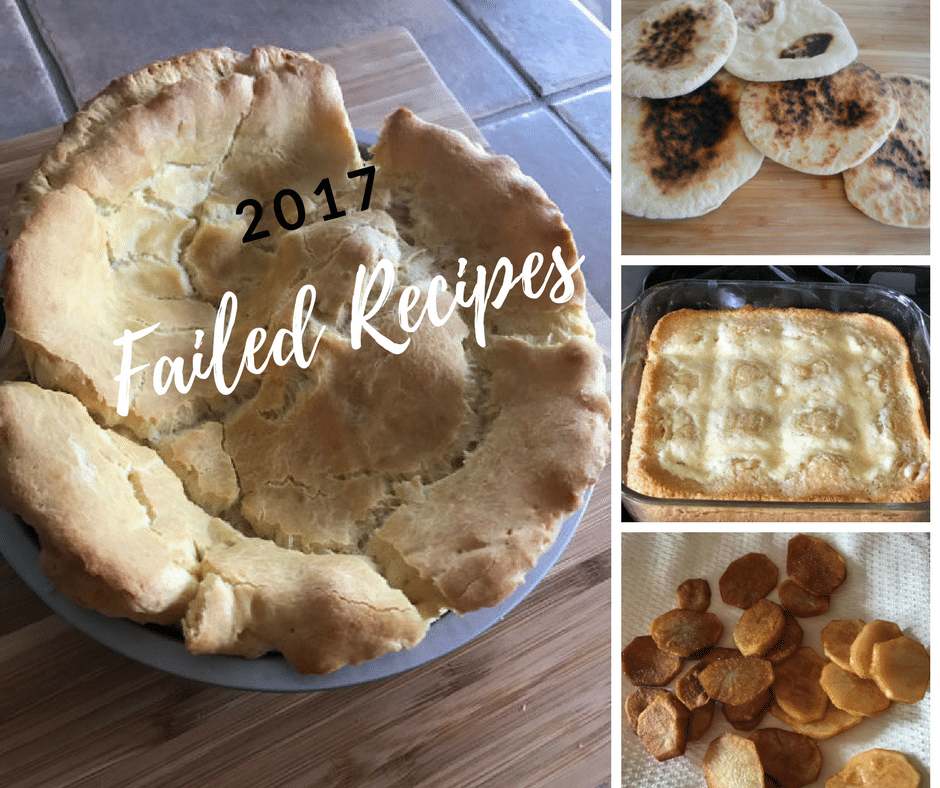 pictures of failed recipes of 2017.