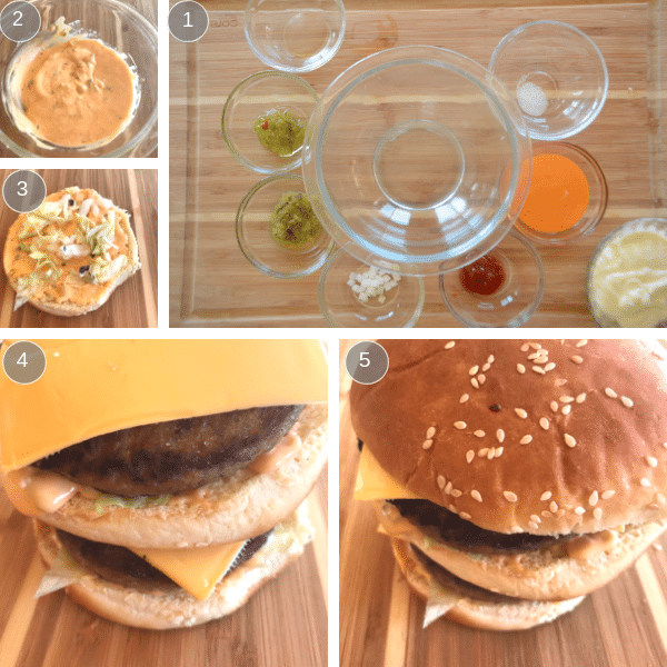 steps for making big mac sauce