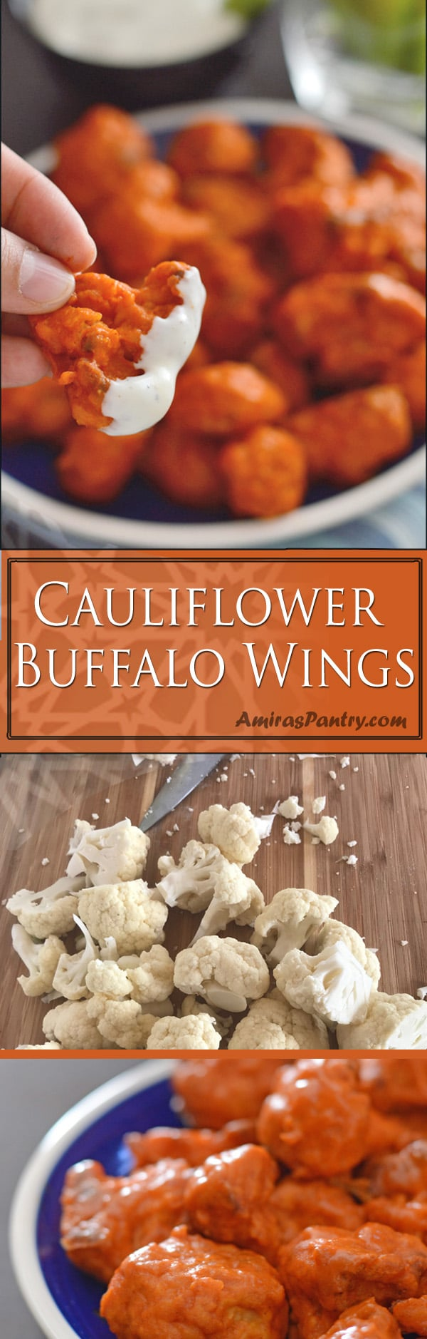 Crispy cauliflower buffalo wings recipe, this is not a false statement. Thesebuffalo style cauliflower bites are truly SERIOUSLY crispy. A healthier alternative to the traditional buffalo wings.
