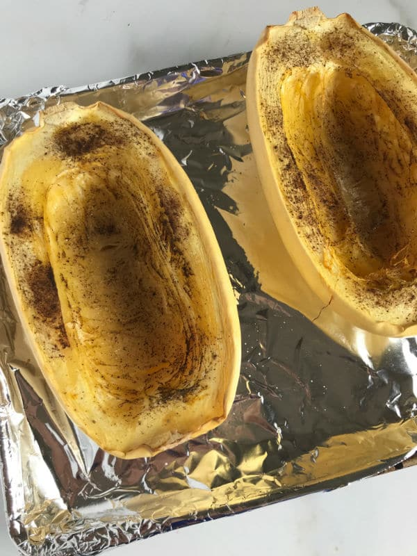 Step by step on making turkey spaghetti squash