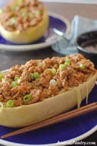 Turkey Spaghetti Squash With Teriyaki Sauce