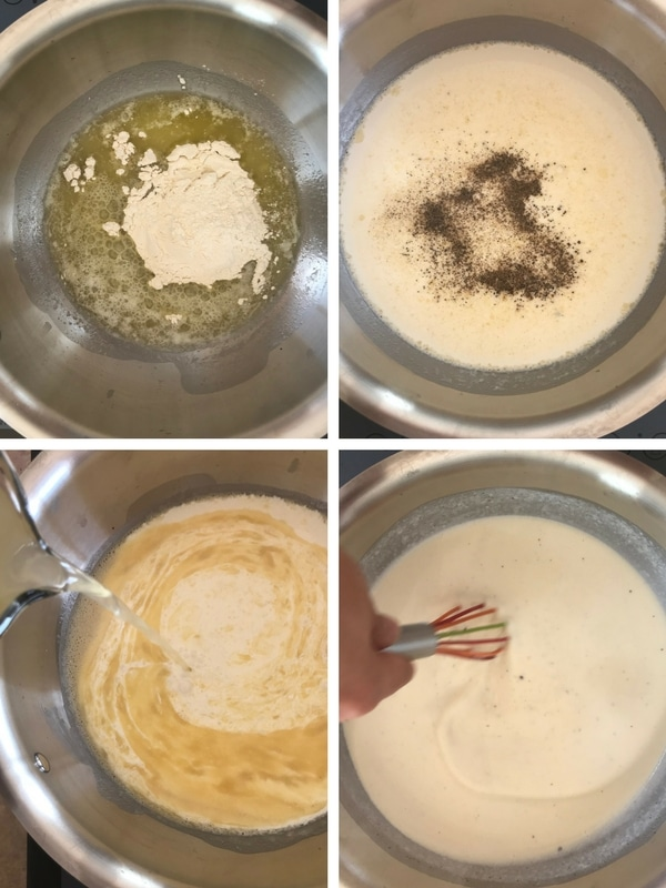 steps of making a white sauce from scratch .