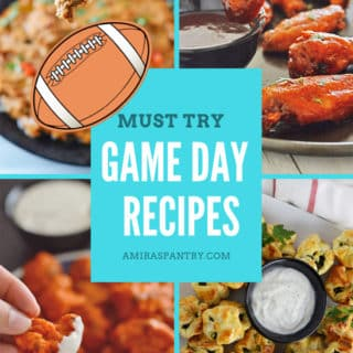 An inforgraph for game day recipes