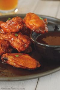 Honey Barbecue Chicken Wings (baked)
