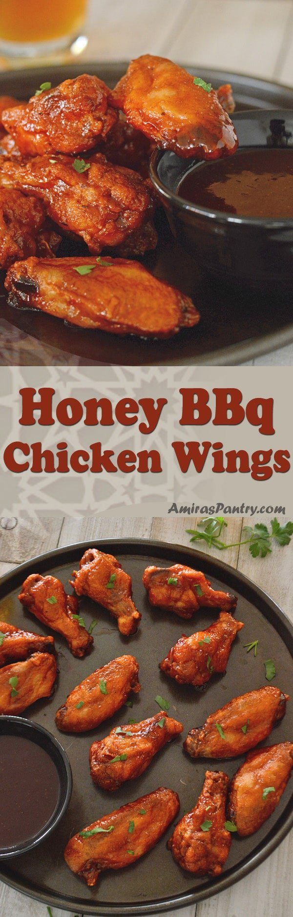 Crispy oven wings, super tasty , smoky, healthy and sweet but not too sweet. Honey barbecue chicken wings is the super bowl wing recipes that you'll need. A real crowdpleaser, a perfect game day appetizer.