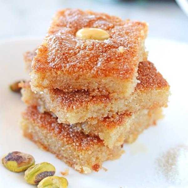 Basbousa Semolina Cake Amira S Pantry