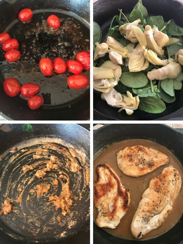 Step by step photos for making Chicken and Artichoke