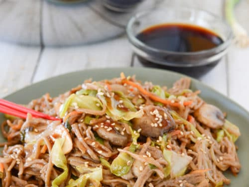 Fried buckwheat an easy yakisoba recipe amiras pantry forumfinder Gallery