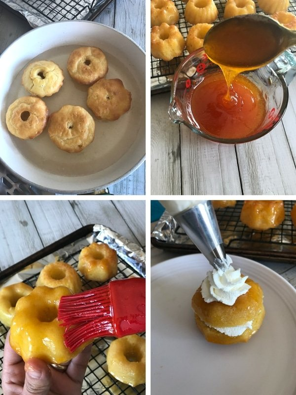 Step by step photos for making Baba cupcakes