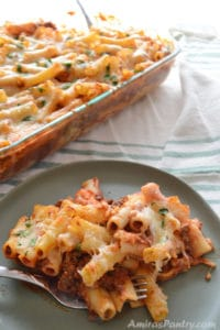 Easy Baked Ziti With Ground Beef