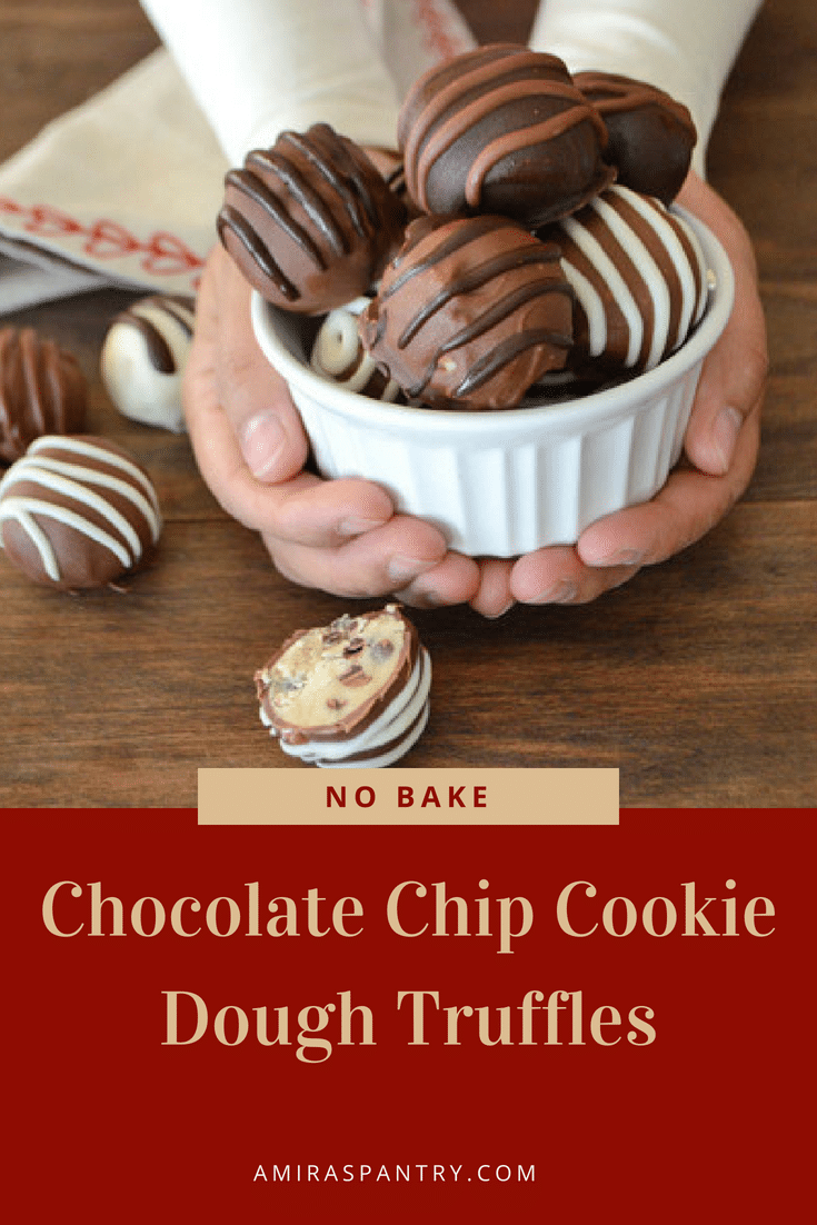 An infograph with a close up of Chocolate cookie dough