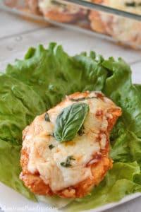Low Carb Chicken Parmesan casserole